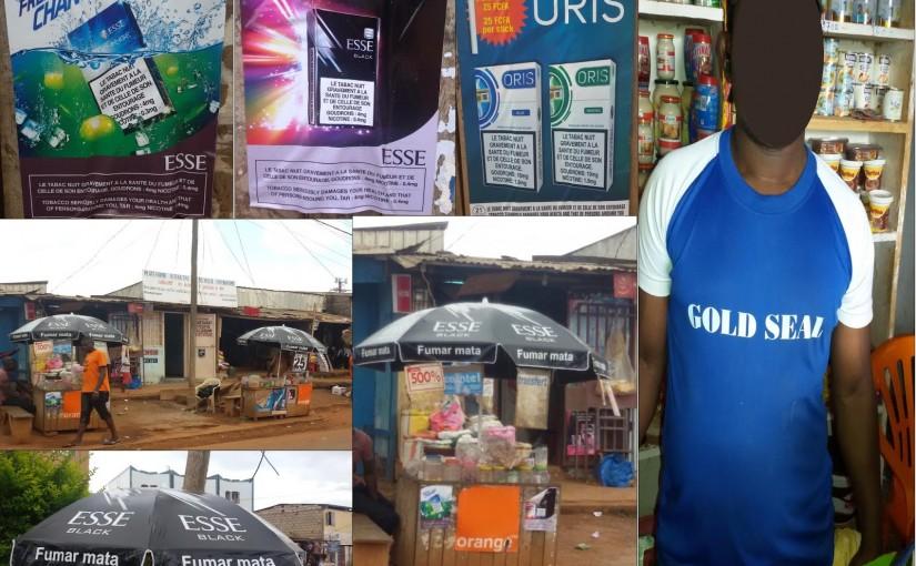 Des cas de publicité illégale des produits de tabac au Cameroun
