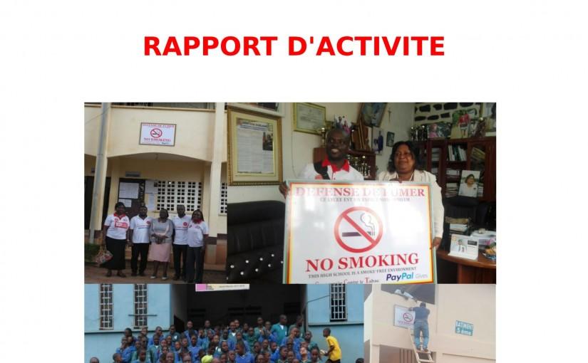 Rapport campagne d'apposition des plaques d'interdiction de fumer dans les établissements scolaires de la ville de Yaoundé